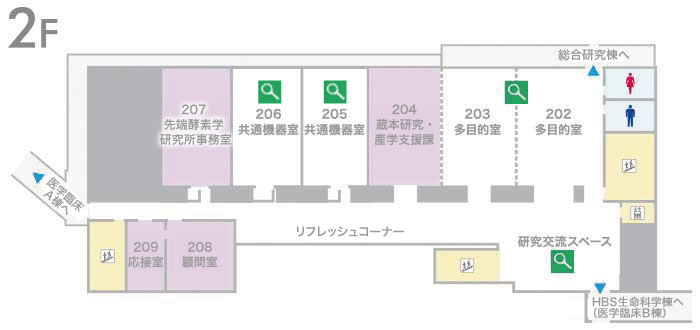 藤井節郎記念医科学センター2階