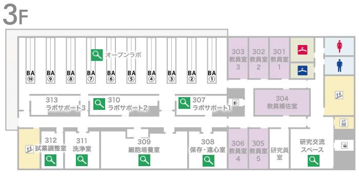 藤井節郎記念医科学センター3階